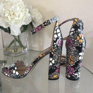 New Sam Edelman Yaro Multicolor Snake Sandals